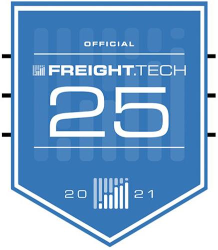 Freight Tech 25 2021 Award