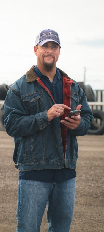 Carrier using Truckstop.com mobile app.
