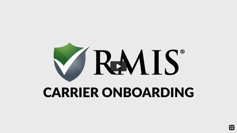 RMIS Carrier Onboarding